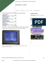 Como Modificar Los RGB de Un TV Con Transistores en Zocalo