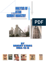 Critical Analysis of Pakistan Cement Industry
