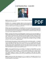 Discours de Florentino Perez
