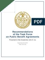 Public Benefit Agreements