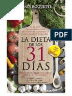 La Dieta de Los 31 Dias - Roquette Agata