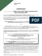 1084 - communiqué Place de Fontenoy 2009