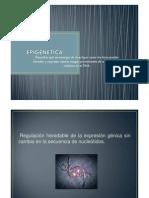 EPIGENÉTICA presentacion