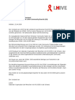 Stellungnahme LHIVE Vorstand zum Rücktritt des SÖDAK 2009 Community Boards (CB)