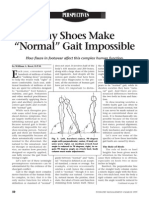 Why Shoes Make Normal Gait Impossible