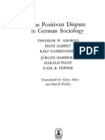The Positivist Dispute in German Sociology