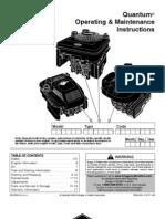 Quantum Operating & Maintenance Instructions
