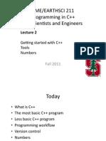 Cme211 Lec 02. C++ Intro