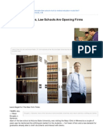 Nytimes.com-To Place Graduates Law Schools Are Opening Firms