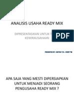 Analisis Usaha Ready Mix