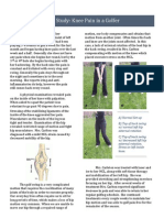 case study-knee pain in golfer