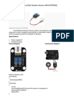 Analog Piezo Disk Vibration Sensor