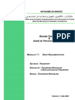 M07 - Droit - Réglementation TRA-TSET