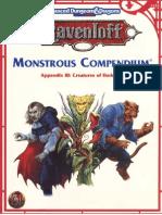 Ravenloft Monstrous Compendium Appendix III