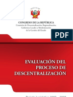 Comisión de descentralización