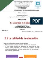 Exposicion Calidad Educativa