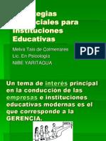 Estrategias Gerenciales Para Instituciones Educativas