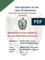 LA REPRESENTACION ORGANICA DE LAS PERSONAS JURÍDICAS