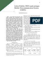 Integrasi Wireless Fidelity (WiFi) Pada Jaringan