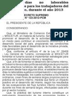 Principal norma del día 31 Diciembre del 2012-Decreto Supremo123-2012-PCM