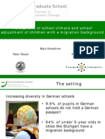 Perceptions of School Climate and School Adjustment of Children With a Migration Background