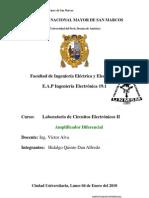 Informe Final N°03 Amplificador Diferencial