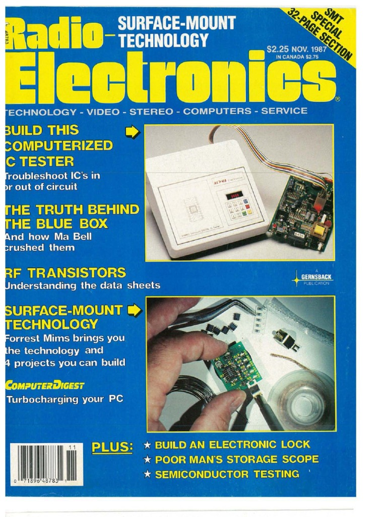 Re 1987 11 High Definition Television Components Blog Oscilloscope Testing Module Huntron Circuit