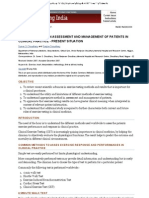 Exercise Testing in Assessment and Management of Patients in Clinical Practice - Present Situation