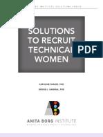 Anita Borg Inst Solutions to Recruit Technical Women1