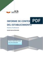 Informe de Contexto Del Establecimiento