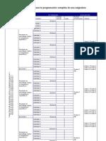Modelo de Plantilalla Para Programacion de Asignaturas