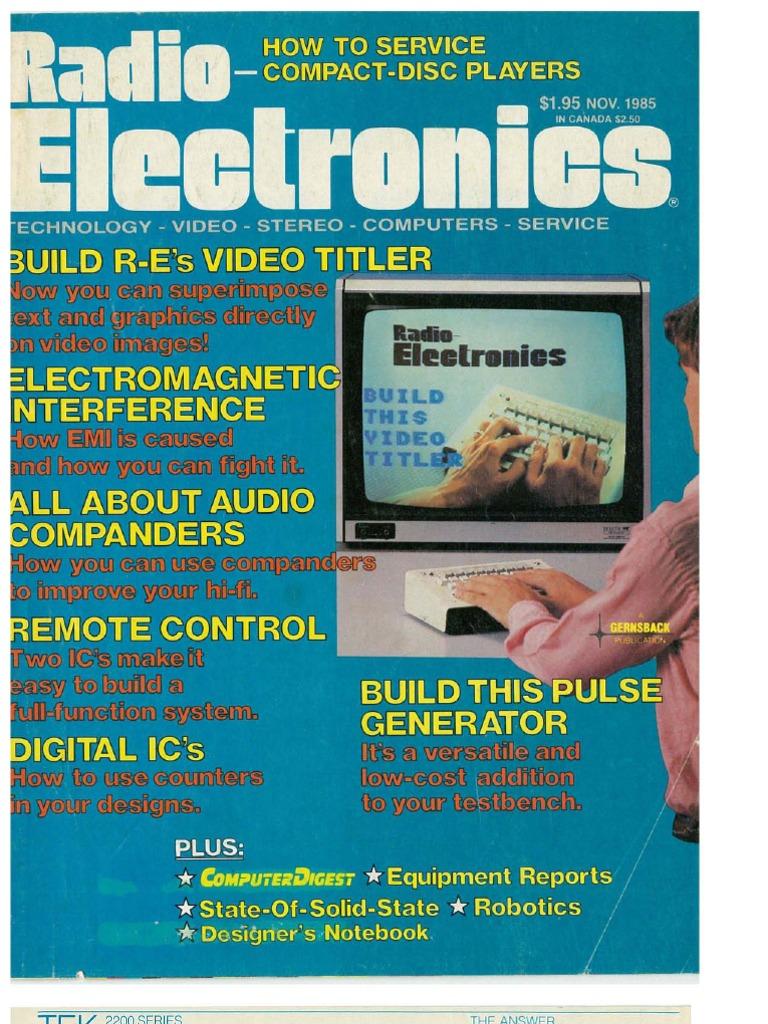 Re 1985 11 Videocassette Recorder Electronics Audi 4000s Engine Central Fuse Box Diagram