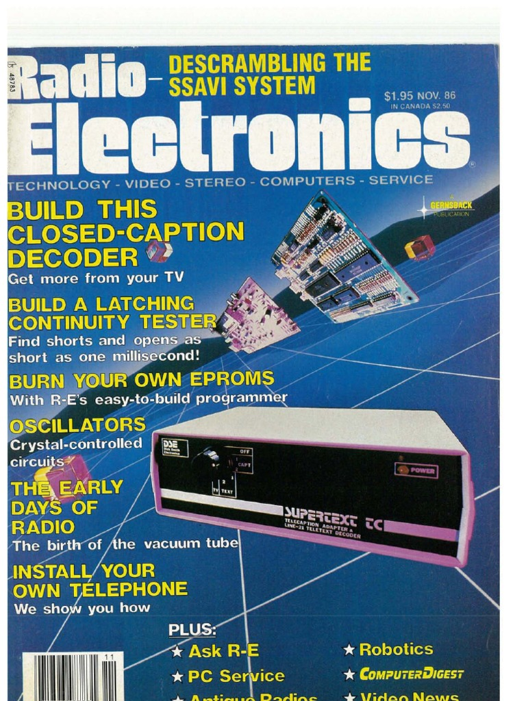 RE - 1986-11 | Electronics | Science