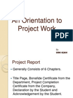 Orientation to Project Work