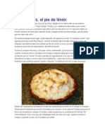 Receta Pie de Limon