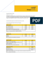 Energy Australia - Regulated Electricity Retail Tariffs and Charges for 2012 - 2013 - Electricity