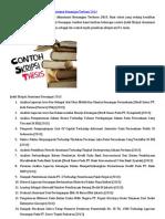 Kumpulan Contoh Judul Skripsi Akuntansi Keuangan Terbaru 2013
