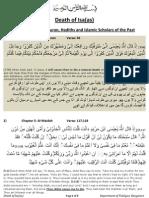 Death of Jesus Quran & Hadiths