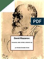 131502330 David Riazanov Humanista Editor de Marx Disidente Rojo Por Nicolas Gonzalez Varela