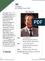 Choi Hong Hi - Wikipedia, The Free Encyclopedia