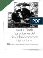 (Block)_Los orígenes del desorden económico internacional.
