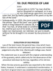 Due Process of Law. Powerpoint Presentation