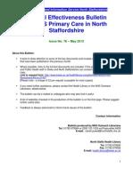 Clinical Effectiveness Bulletin No. 76 May 13