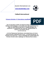 Primera División - FC Barcelona unaufhaltsam zum Titel