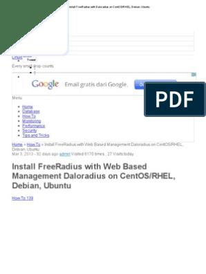 Install FreeRadius With Daloradius on CentOS_RHEL, Debian, Ubuntu
