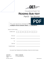 reading Part B – text booklet