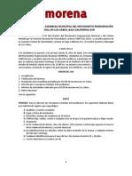 Convocatoria 2a Asamblea Municipal Los Cabos