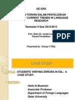 Presentation on Case Study