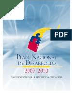 Plan Nacional de Desarrollo 2007-2010