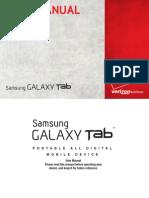 Verizon Wireless SCH-I800 GalaxyTab English User Manual MR